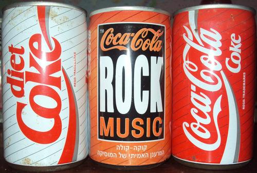 latas latinhas coca cola coke raras - promoção