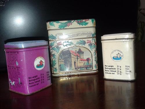 latas litografiadas de te articulos de coleccion