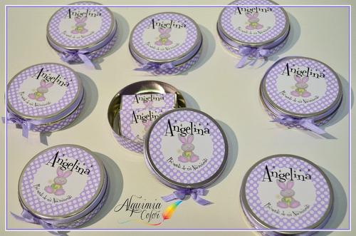 latas souvenirs con chocolates personalizados recuerdo ideal
