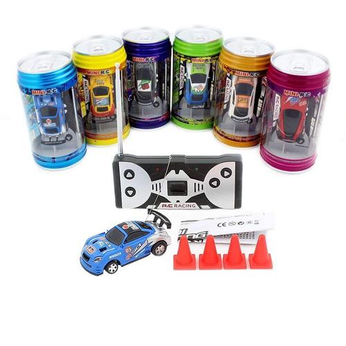 latas tipo mini coche rc con 4 unids barricadas, color al !