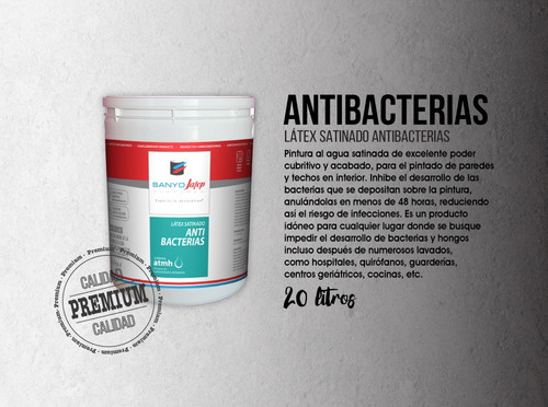 látex antibacterias 20 litros promo 25% off + envío gratis*