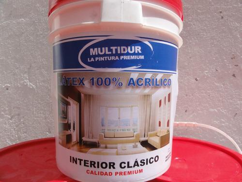 latex interior clasico x 10 litros multidur calidad premium