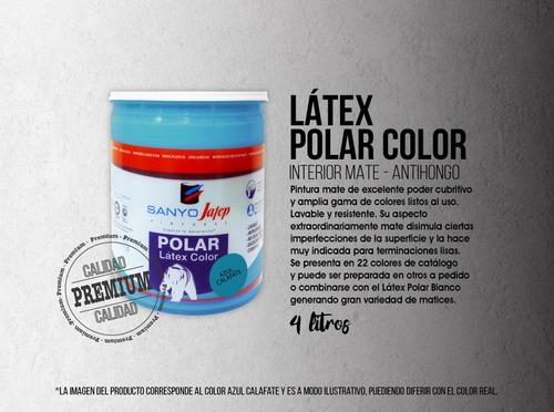 látex polar color mate 4lts grupo a envíos gratis* + promo