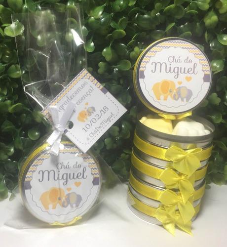 latinha chá de bebê / maternidade kit 50 unidades
