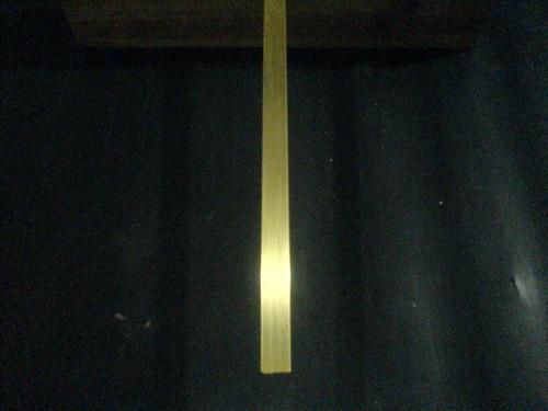 latão c-360 retangular medidas 4,76 mm x 25,40 mm - 50 cm