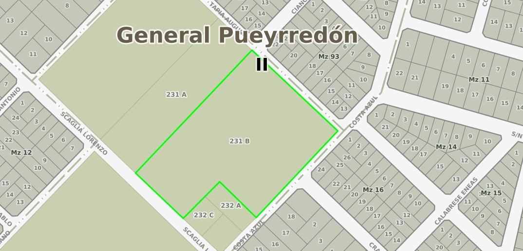 latorre prop vende fraccion de 16.708 m2..sobre calle scaglia a 2 cuadras del mar y playas