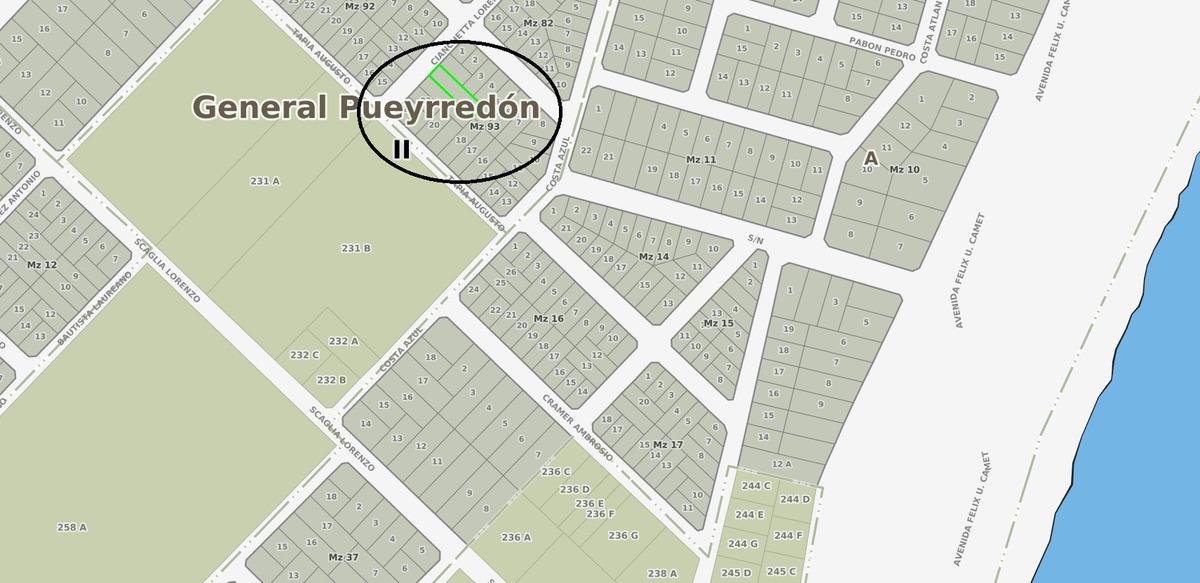 latorre prop. vende lote de 408 m2 en parque peña - a 3 cuadras de la ruta 11
