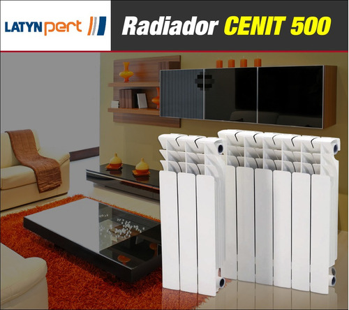 latyn pert radiador 5 piezas linea cenit 500 + kit