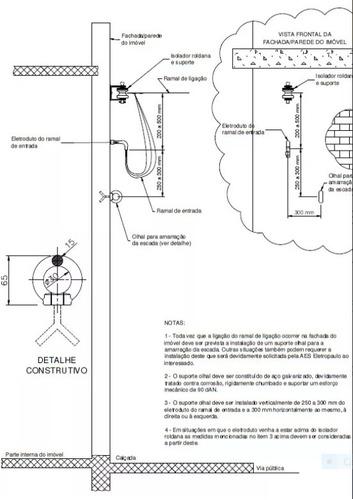 laudo art coluna projeto padrão aneel ligação eletrica