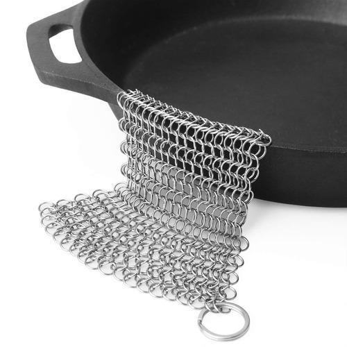 laukingdom hierro fundido limpiador , 7x7 cuadrado acero ace