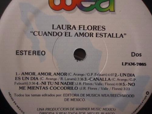 laura flores / cuando el amor estalla vinyl lp acetato