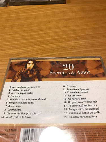 laureano brizuela 20 secretos de amor cd 2007 pop