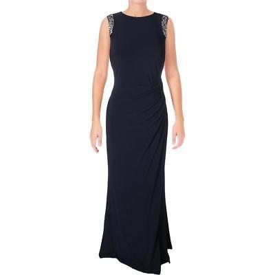 2a25c8598 Lauren Ralph Lauren Womens Navy Jersey Formal Vestido De - $ 233.990 ...