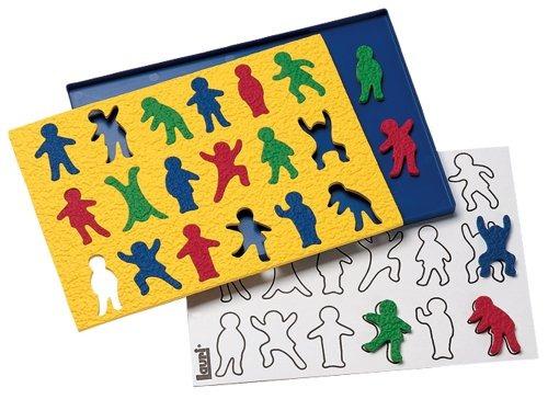 lauri crepe de goma see-la-diferencia puzzle - niños