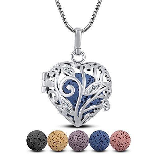 Lava stone aromatherapy essential oil diffuser necklace hear lava stone aromatherapy essential oil diffuser necklace hear aloadofball Image collections