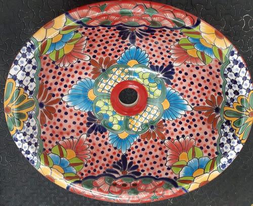 lavabo artesanal estilo talavera ovalin mas de 12 modelos