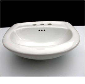 Lavabo blanco oferta ceramica alta temp acabado for Lavabos de porcelana
