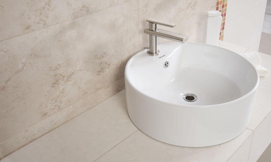 Lavabo ceramica blanco ovalin sobreponer tendenzza 975 for Ovalines para lavabo