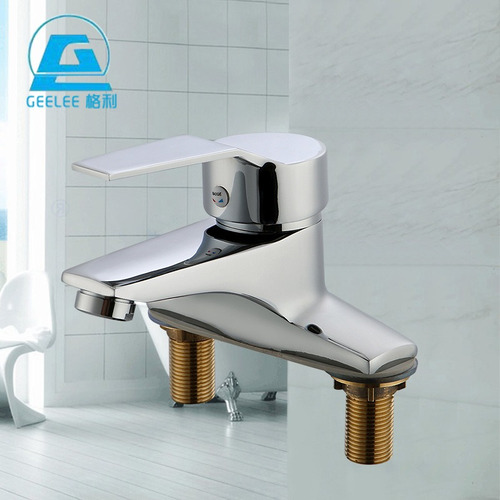 lavabo de baño huiba grifo de baño corto de vidrio curvo