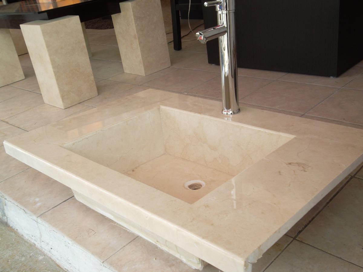 Lavabo de marmol crema marfil 3 en mercado libre for Cocina color marmol beige