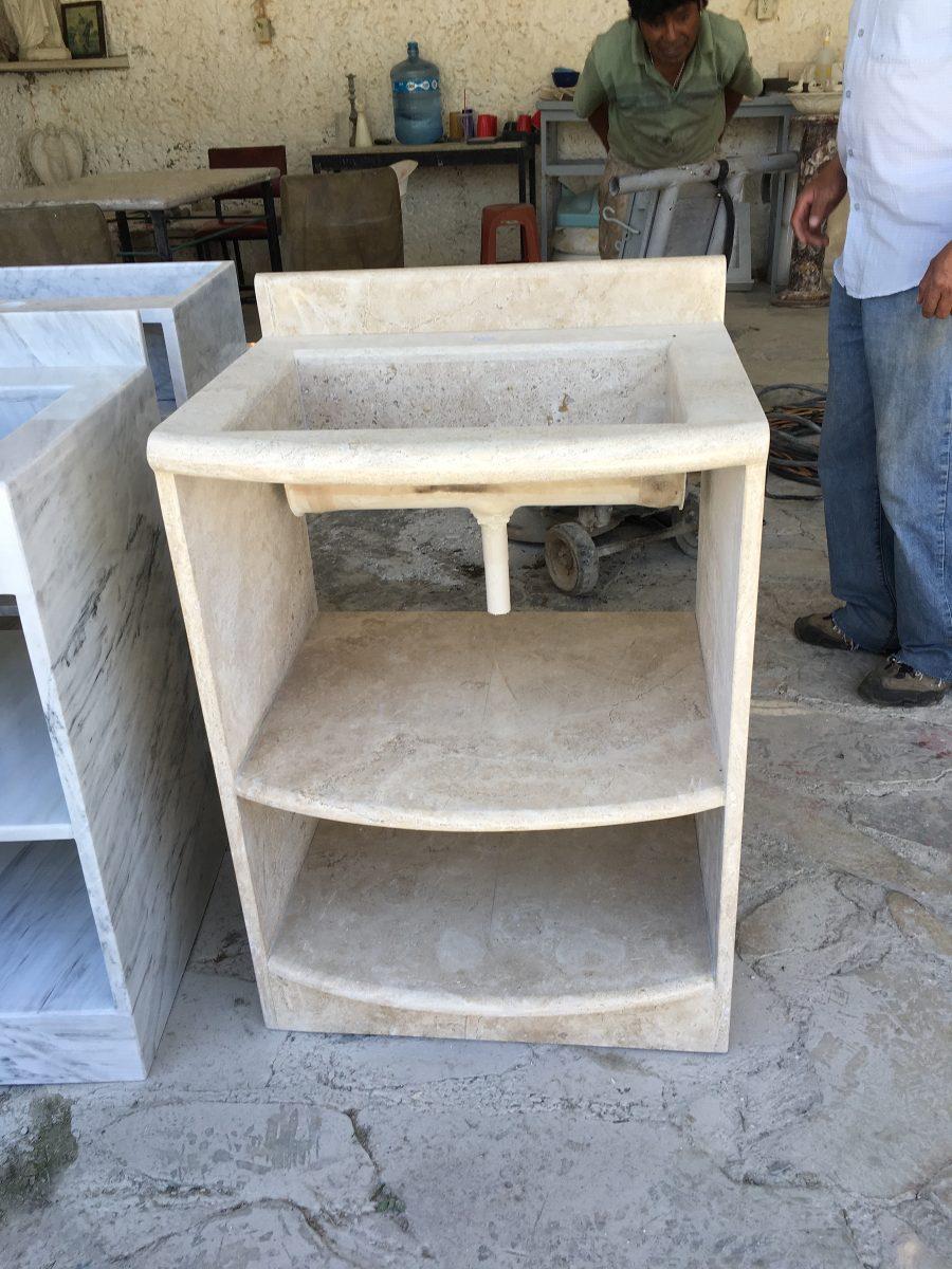 Lavabo de marmol travertino 5 en mercado libre for Marmol de travertino