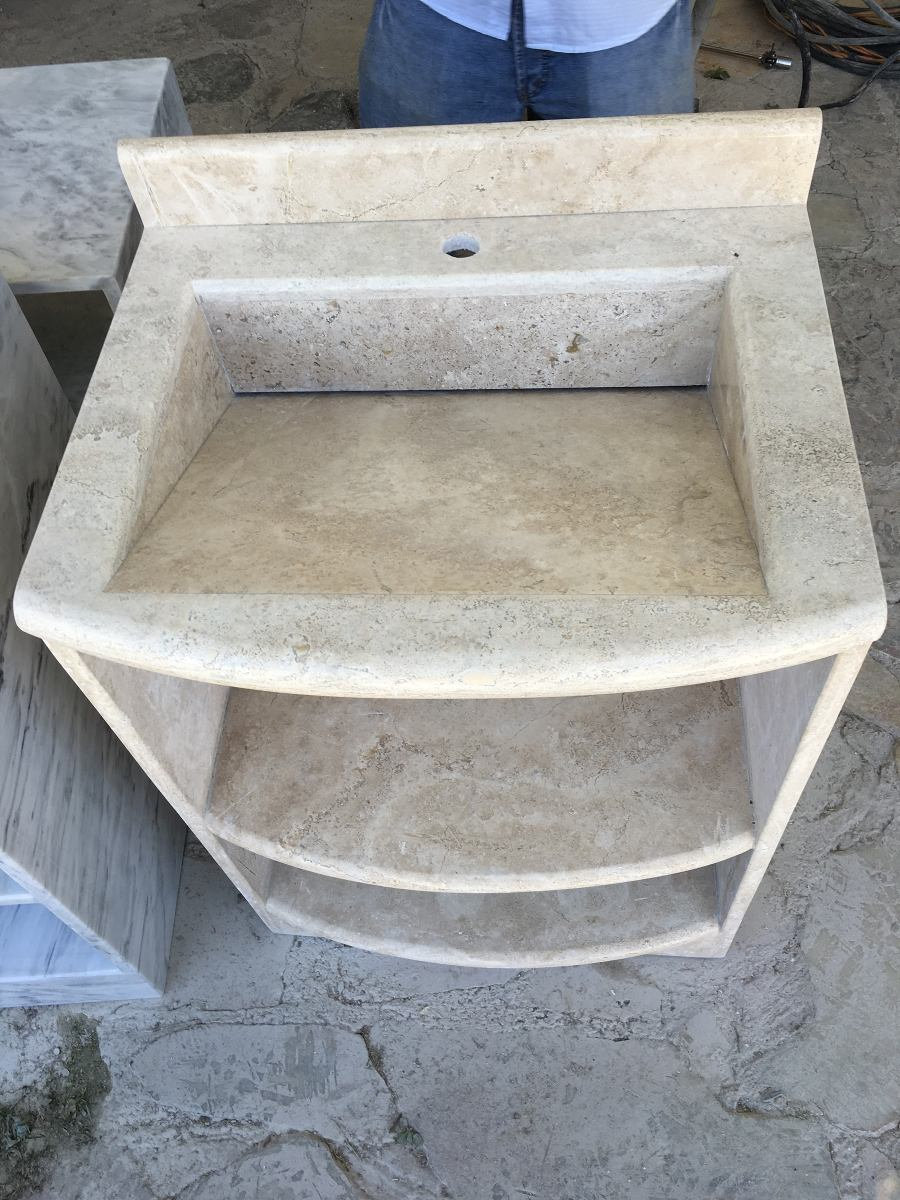 Lavabo de marmol travertino 5 en mercado libre - Lavabos de marmol para bano ...