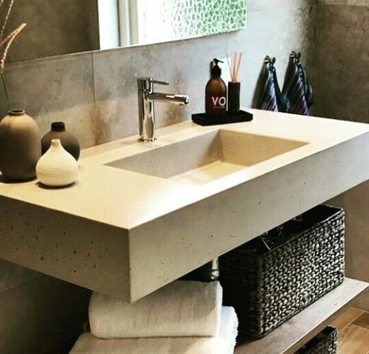 Lavabo lavamanos concreto pulido marmolia y marmol for Precio del mercado de concreto encerado
