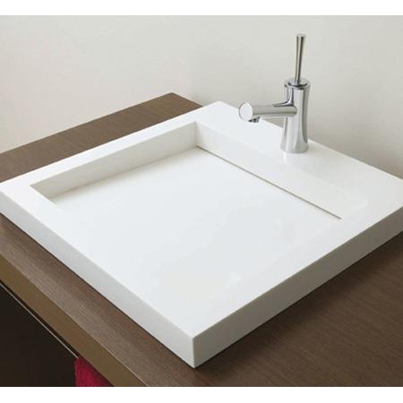Lavabo minimalista desag e oculto resina mondrian bajo for Compra de lavabos