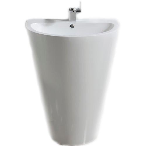 Lavabo para ba o pedestal contemporaneo moderno dise o hm4 for Lavabo the gap con pedestal