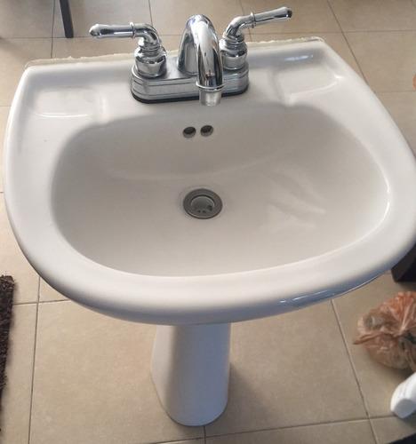 lavabo pedestal con llave mezcladora!!