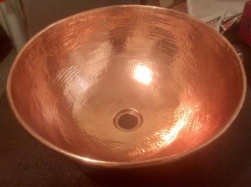 lavabo vessel cobre martillado