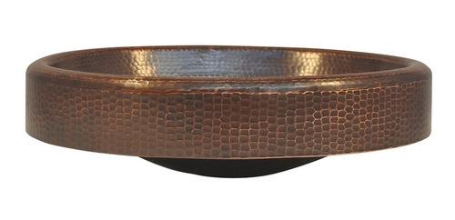 lavabo vessel ovalado en cobre con faldón 19 x14 x6
