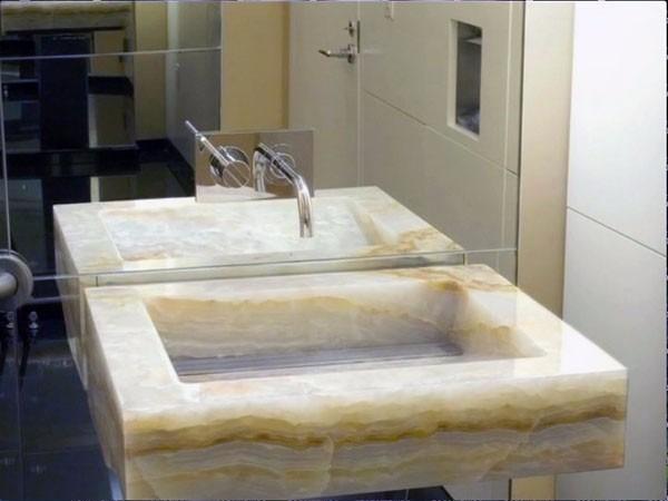 Lavabos de piedra ba o decoraci n ovalin moderno - Lavabos de marmol para bano ...