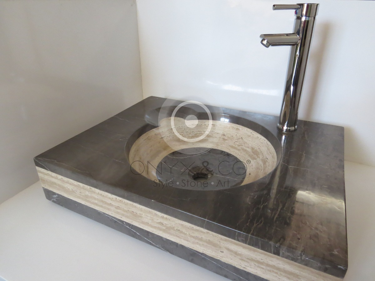 Lavabos m rmol onix elite decoraci n ba o interiores - Lavabos de marmol para bano ...