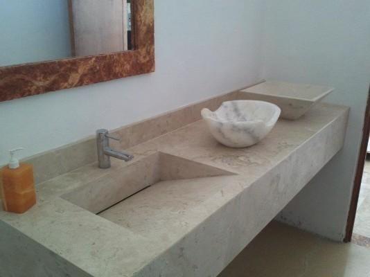 Lavabos para ba os de marmol moderna minimalista 3900 - Lavabos de marmol ...