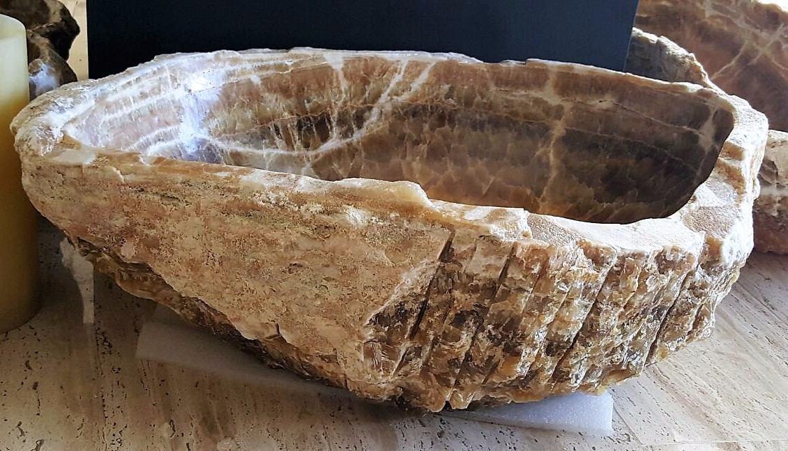 Lavabos r sticos piedra natural nix caf 2 en - Lavabos de piedra rusticos ...