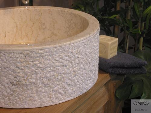 lavabos y ovalines de mármol piedra natural 40 cm diametro