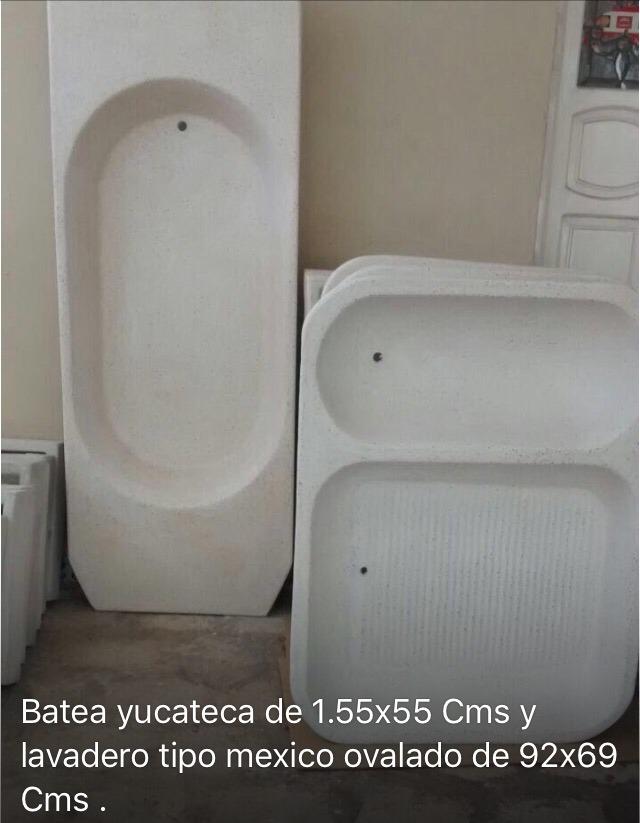 Lavaderos y bateas de concreto y granito en for Lavadero de granito