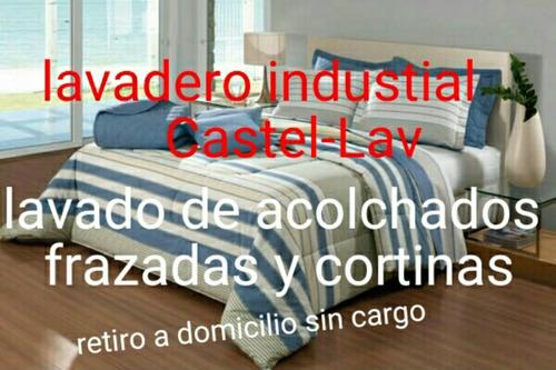 lavado de acolchados frazadas cortinas lavadero castel-lav