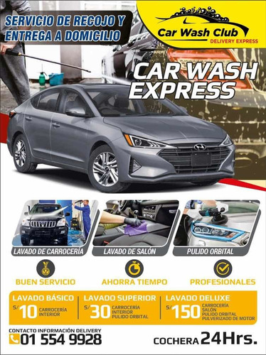 lavado de autos delivery a domicilio