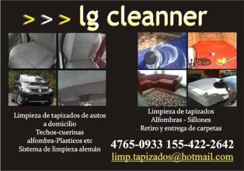 lavado de tapizado / interior a domicilio