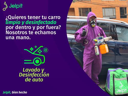 lavado y desinfección de auto