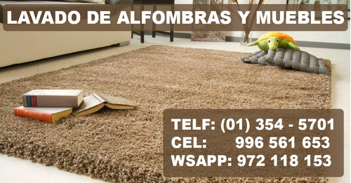 lavado y limpieza de alfombras y muebles - tlfn: 01 354-5701
