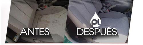lavado y limpieza de tapizados de vehiculos a domicilio