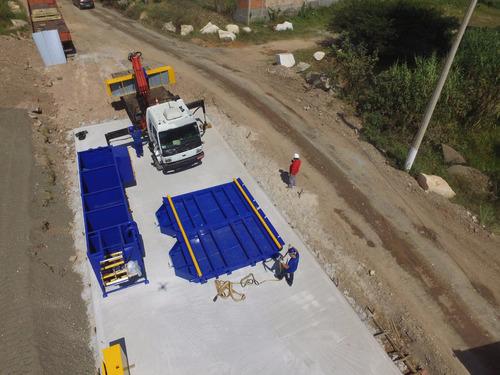 lavador de rodas de caminhões - lava rodas móvel technoss
