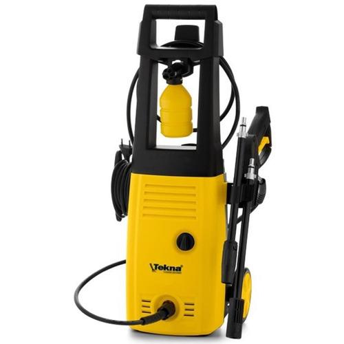lavadora alta pressão 1400w c/ rodas e kit shampoo hlx tekna
