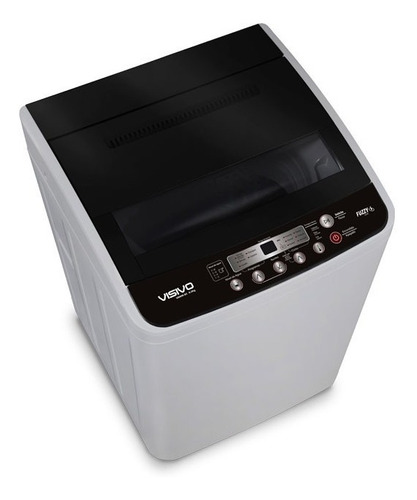 lavadora automática 40 libras visivo vawm-180 black series