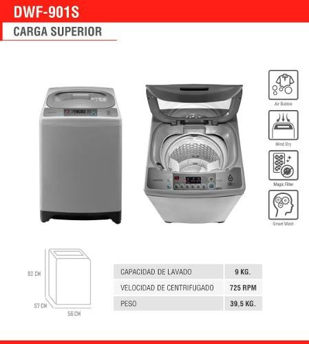 lavadora automatica daewoo dwf-901s 9kg retiro gratis