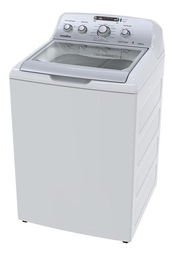 lavadora automática mabe lmh79104w blanco y plata 19kg