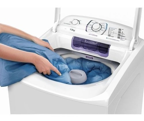 lavadora branca c/ disp autolimpante e tec jet & clean lac13